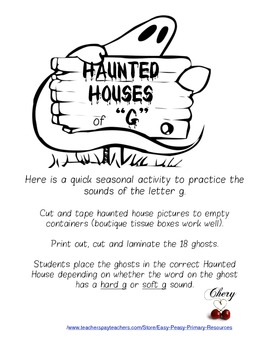 """Haunted Houses sounds of """"g"""""""