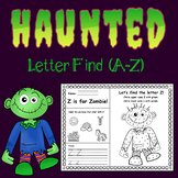 Haunted Letter Find (Aa-Zz) - (Includes matching word wall