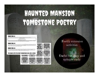 Haunted Mansion Poetry Extension Activity
