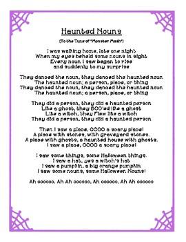 Haunted Nouns: Halloween Common Nouns