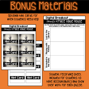 Haunted Place Value House | Digital Breakout