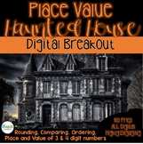 Place Value Haunted House: Digital Breakout Escape Room