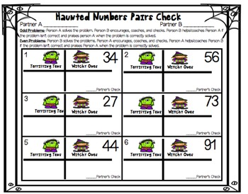 Halloween Haunted Place Value for First and Second Grade