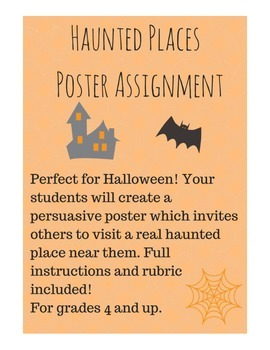Haunted Places Persuasive Poster Project