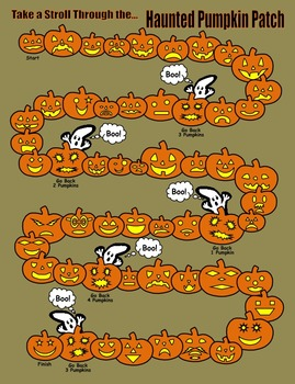Haunted Pumpkin Patch Game  (Addition & Subtraction Fact Families)
