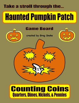 Haunted Pumpkin Patch Game (Counting Coins)