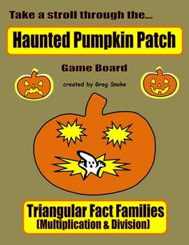 Haunted Pumpkin Patch Game (Multiplication & Division Fact Families)