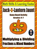 Halloween Math Skills & Learning Center (Multiply & Divide Fractions)
