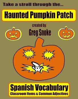 Haunted Pumpkin Patch Game (Spanish Vocabulary)