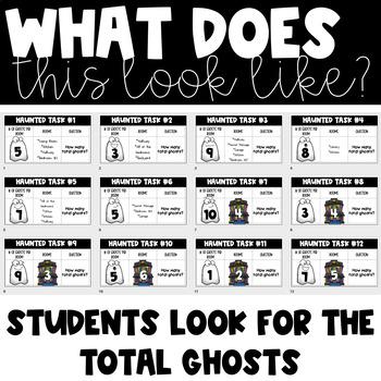Haunted Halloween Task Cards (Multiplication Version)