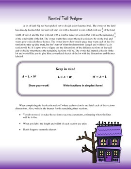 Haunted Trail Designer: Division of Fractions