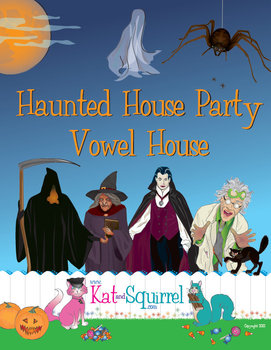 Halloween Haunted Vowel House for Reading