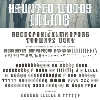 Haunted Woods Inline for Commercial Use