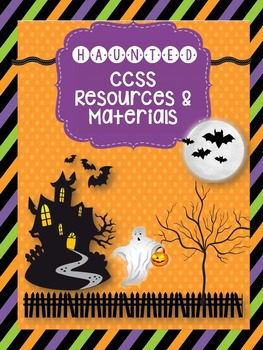 """""""Haunted"""" by Shel Silverstein CCSS Resources, Station Work"""