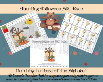 Haunting Halloween ABC RaceLiteracy Center Common Core {K.RF.1}