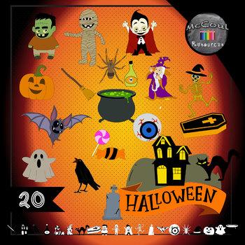 Haunting Halloween Clipart x 20