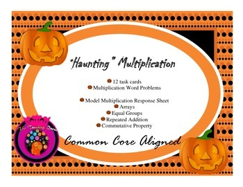 Haunting Halloween Multiplication Word Problems Task Cards (Common Core Aligned)