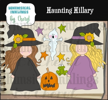 Haunting Hillary Clipart Collection