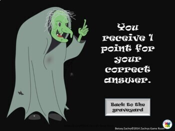 Haunts, A Frightfully Fun Interactive PowerPoint Game Template