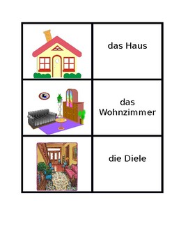 Haus (House in German) Concentration games