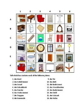 Haus (House in German) Find it Worksheet