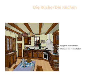 Haus, Wohnung, Möbel PowerPoint with Writing and Speaking