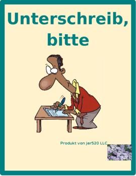 Hausarbeit (Chores in German) Unterschreib bitte