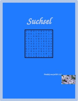 Hausarbeit (Chores in German) Wordsearch for differentiated learning