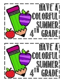 Have A Colorful Summer 4th Grade