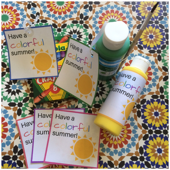 Have A Colorful Summer - End of the Year Tags