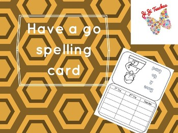 Have A Go Card- Spelling