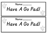Have A Go Pad
