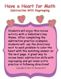 Valentine's Day Fun: Have a Heart for Math (Subtraction Wi
