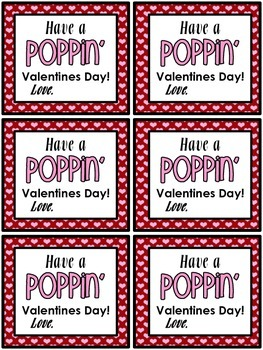 Have A Poppin' Valentines Day