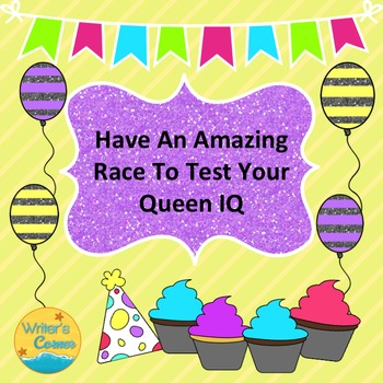Have An Amazing Race To Test Your Queen, Substitute Plan, Research Skills