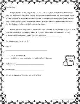 Have Buckets of Fun This Summer! - Editable Behavior Incentive Freebie