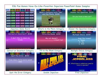 Have-Do-Like-Favorites Jeopardy PowerPoint Game