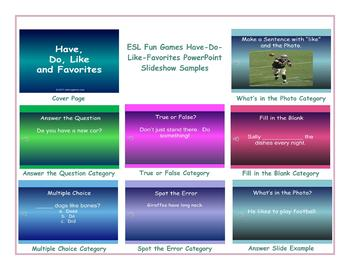 Have-Do-Like-Favorites PowerPoint Slideshow