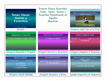 Have, Do, Like and Favorites Spanish PowerPoint Presentation