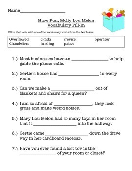Have Fun, Molly Lou Melon - Comprehension, Vocabulary and More!