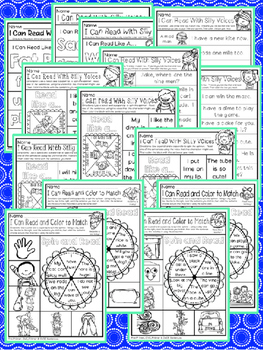 Have Fun Reading - Read With Silly Voices NO PREP printables CVCE & Primer