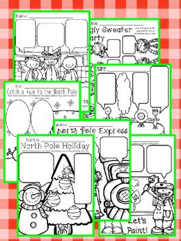 Have Fun Writing - Dialogue Writing Center Printables December - NO PREP