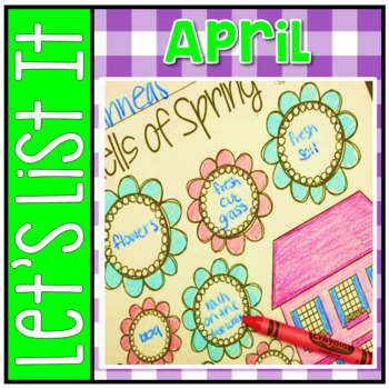 Have Fun Writing - Let's List It! Writing Center Printables April - NO PREP