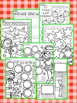 Have Fun Writing - Let's List It! Writing Center Printables December - NO PREP