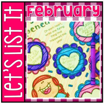 Have Fun Writing - Let's List It! Writing Center Printables February - NO PREP