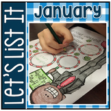 Have Fun Writing - Let's List It! Writing Center Printables January - NO PREP