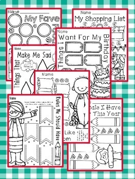 Have Fun Writing - Let's List It! Writing Center Printables September - NO PREP