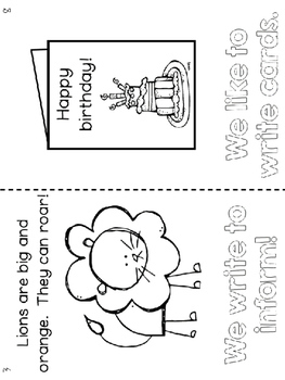 Have Fun Writing - We Love Writing student booklet - types of writing