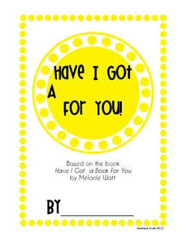 Have I Got a Book for You!  Follow-up Writing Activity