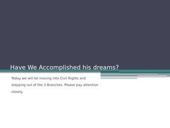 Have We accomplished his dreams?